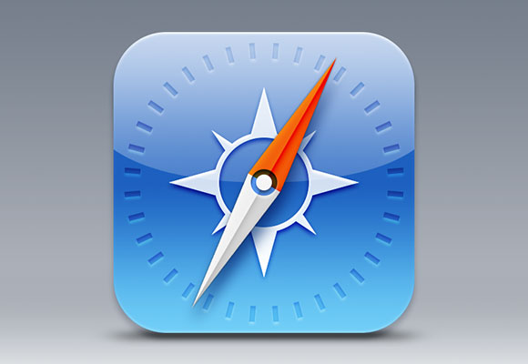 IOS7 Safari Icon PSD