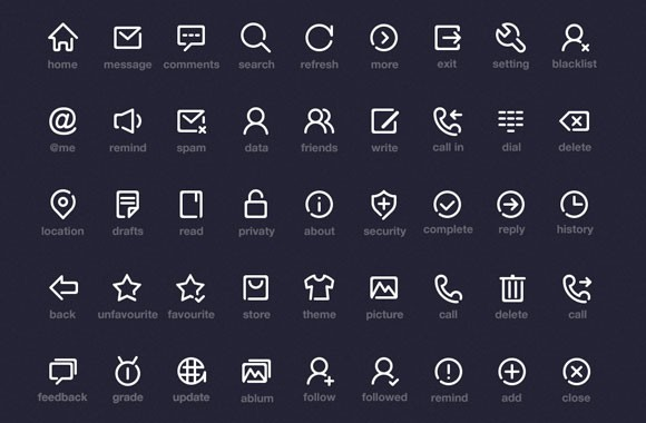 Simple icons PSD by Onlyoly