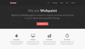 Webpaint - free PSD website template