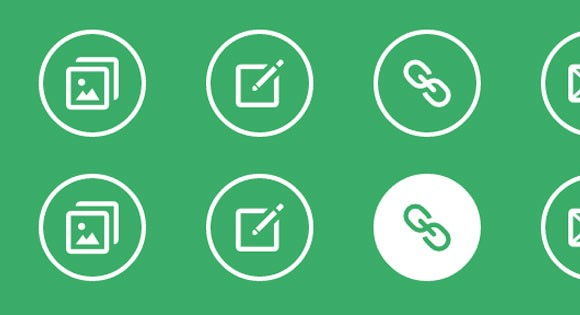 Simple icon hover effects CSS - Freebiesbug