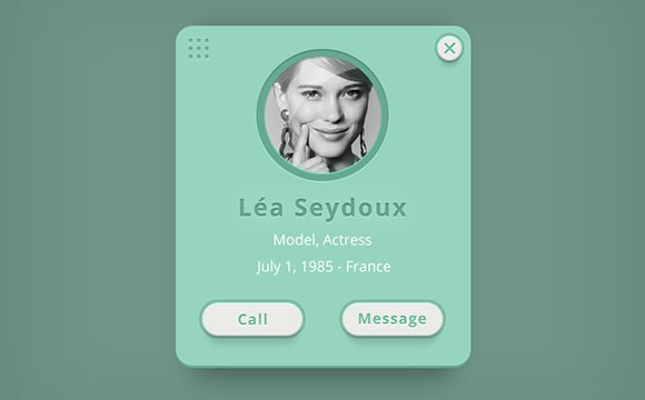 Call her! PSD incoming call widget