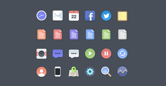 Some free flat icons PSD