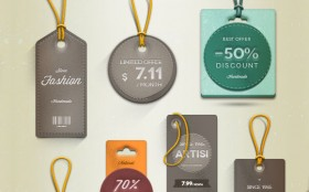 Vintage/retro labels & tags PSD