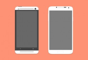 HTC One and Galaxy S4 PSD Mockups