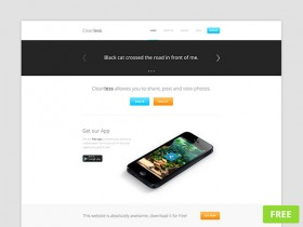 Cleanless PSD website template