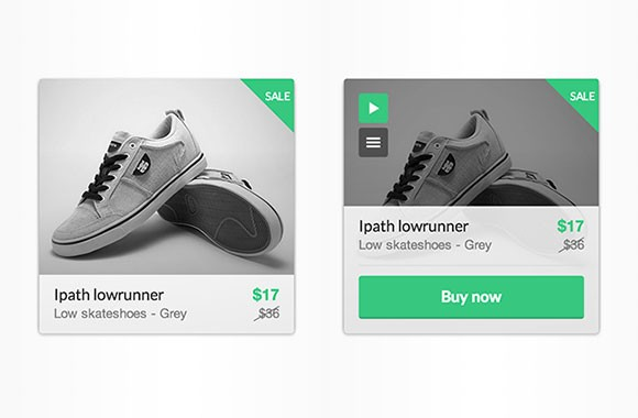 Product item hover effect