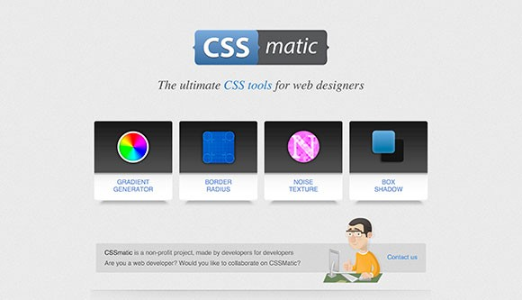 CSSmatic - a tool for designers