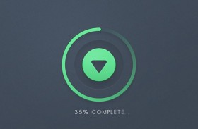 Download Button PSD
