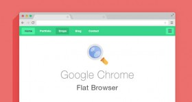 Flat Browsers Set PSD