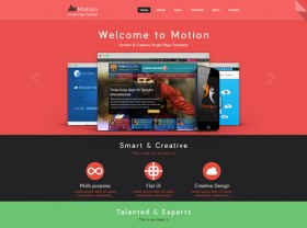 Motion PSD website template