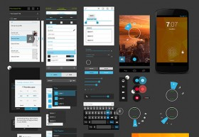 Android 4 UI Design Kit PSD