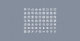 63 mini icons PSD