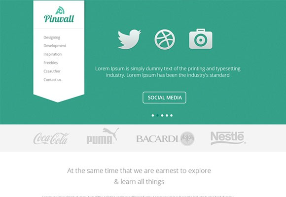 Pinwall - Modern Website Template