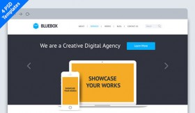 BlueBox: Flat Website PSD Template