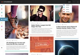 Extraordinary Magazine - PSD template