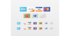 Flat credit cards PSD