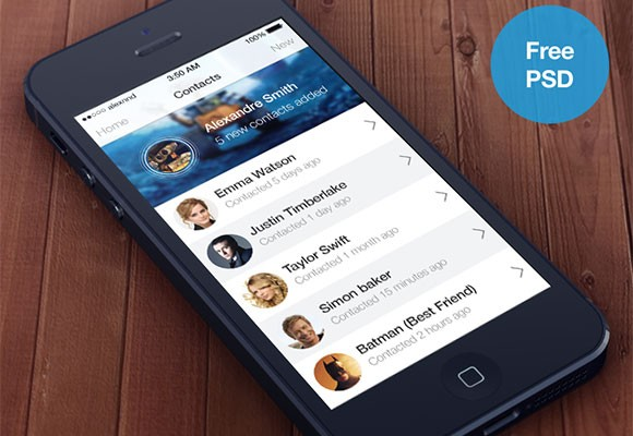 iOS7-style contacts app