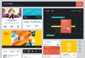 UI kit for web designers PSD