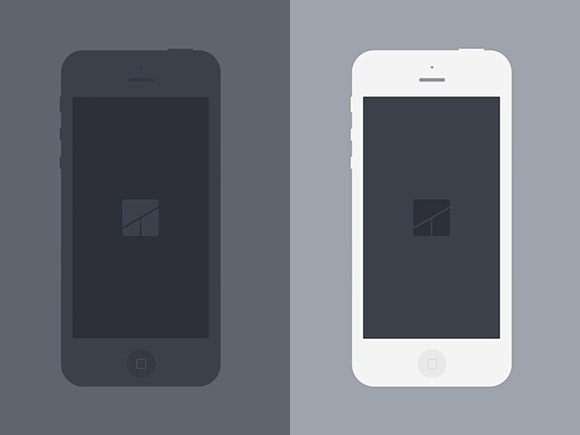 iPhone5 ultra-flat mockups