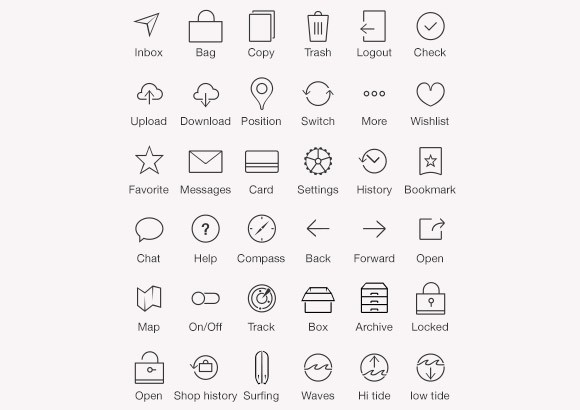 Some iOS7 tab bar icons