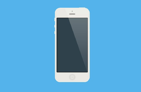 Flat white iPhone mockup