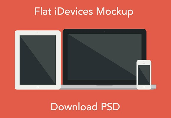 Flat iDevices mockup