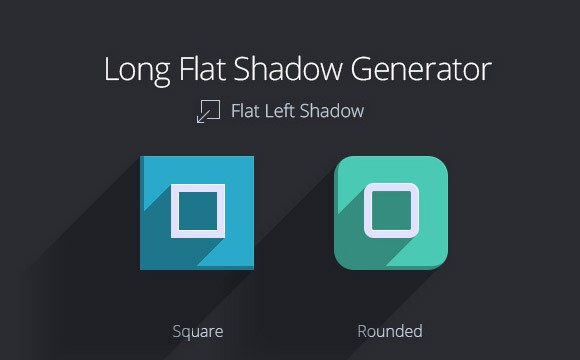 Long flat shadow generator - Freebiesbug