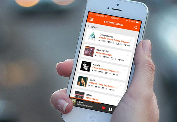 SoundCloud concept for iOS7