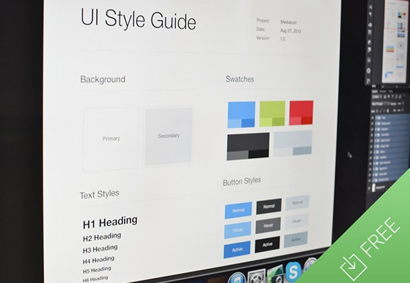 ui style guide template freebiesbug