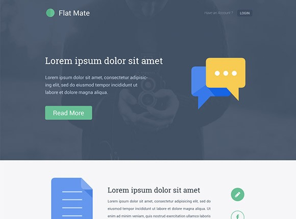 Flat Mate - Single page template