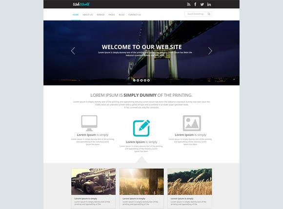 WebWorld - PSD website template