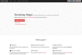 Bootstrap Magic featuring Boostrap 3