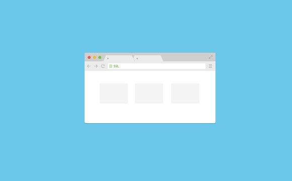 Chrome browser flat mockup