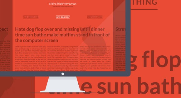 Sliding horizontal layout with CSS3