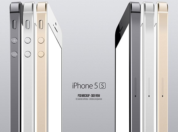iPhone5S side view mockup