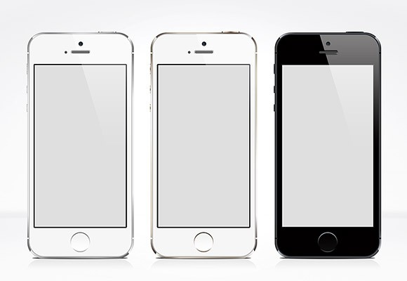 3 iPhone5S PSD mockups