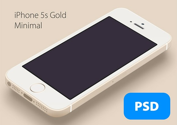 Minimal iPhone5S Gold mockup