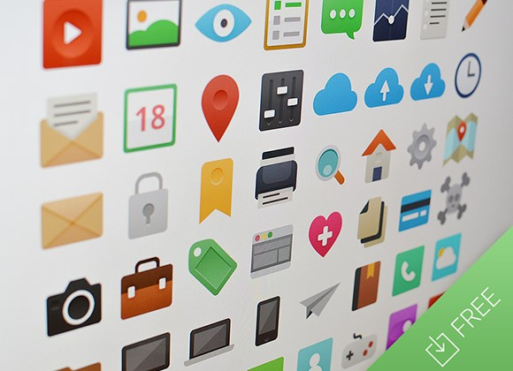 It's Flat - PSD icon set