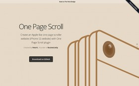 One page scroll - jQuery plugin
