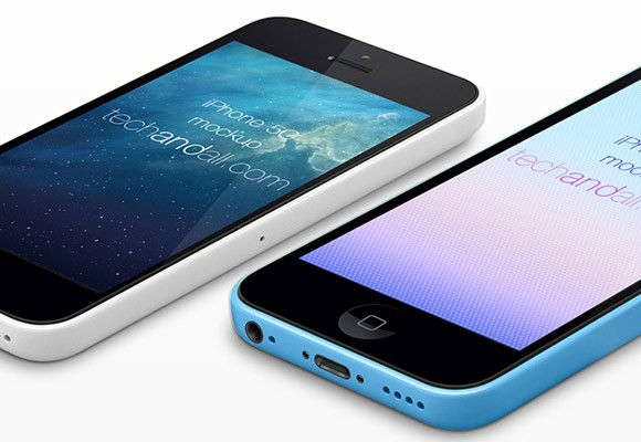 Another well made iPhone5C perspective mockup including smart object layers. you can easily drop in your application screen shot