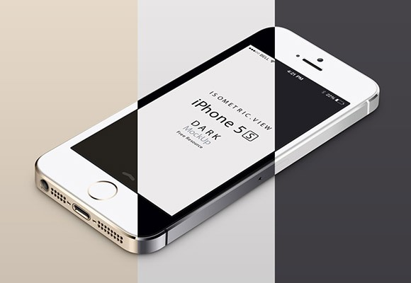 iPhone 5S mockup - Perspective view