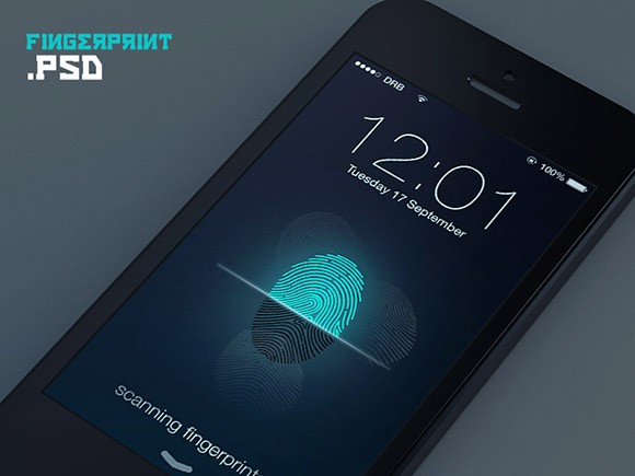 Fingerprint lock screen concept
