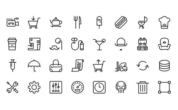 Streamline icon set SVG PNG
