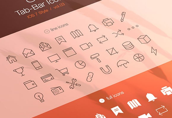32 Tab bar icons for iOS7