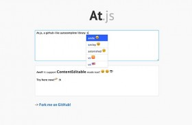 At.js - Autocomplete library
