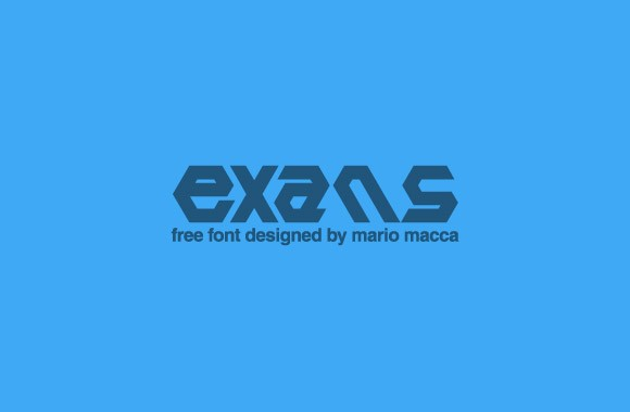 Exans free font