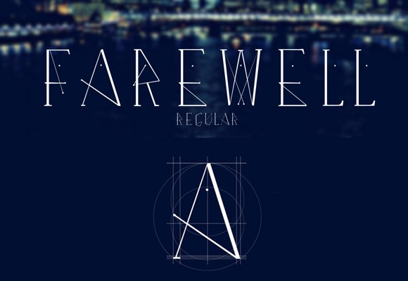 Farewell Regular free font