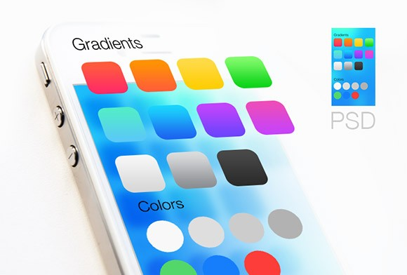 iOS7 gradients and colours