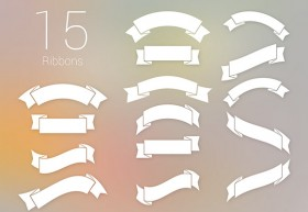 15 free PSD ribbons