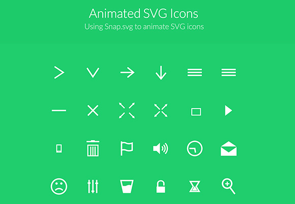 Animated SVG icons - Freebiesbug